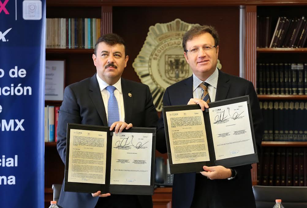 Comex y la SSP firman convenio de seguridad