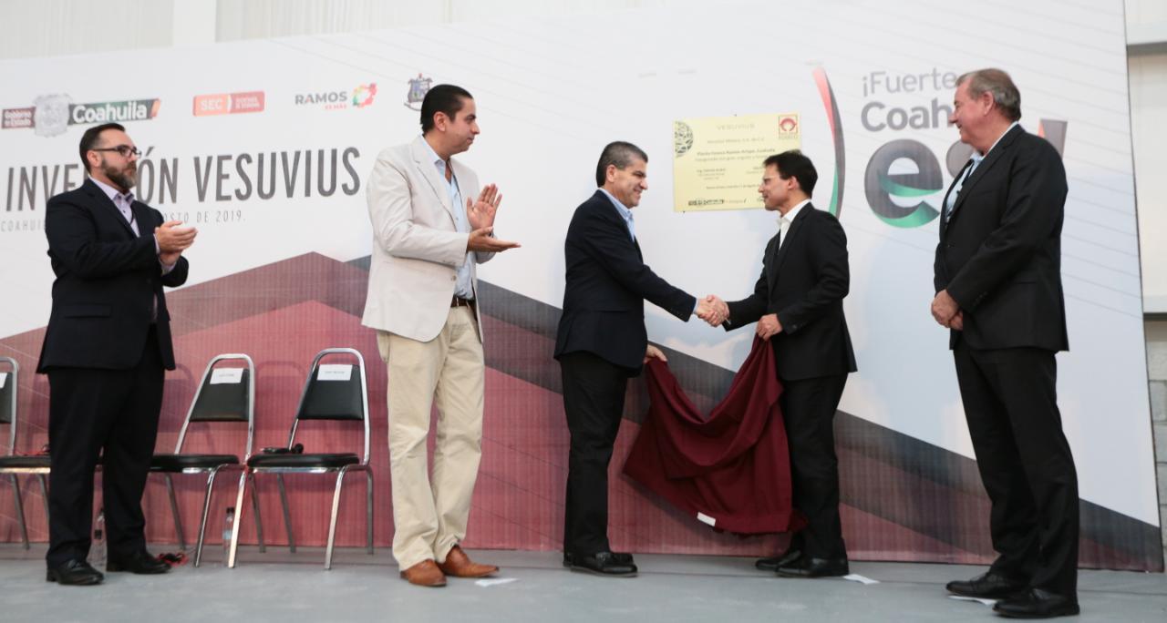 Invierte Vesuvius 20 mdd a planta en Ramos Arizpe