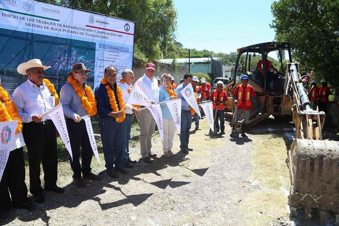 Entregan obras de infraestructura hidráulica en Guerrero