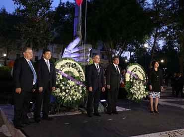 Realizan ceremonia luctuosa por 31 aniversario de sismo de 1985