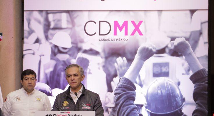 Se han reparado 5,000 inmuebles en la Ciudad de México