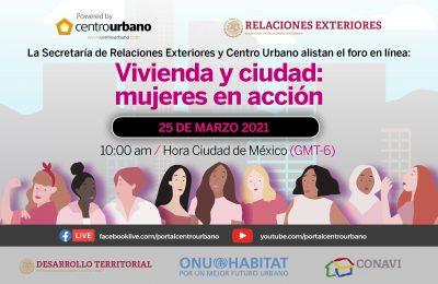 Alistan el Foro 'Vivienda y Ciudad: mujeres en acción'