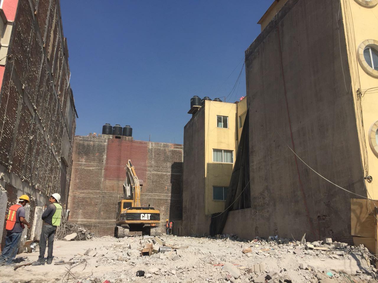Finalizó demolición de edificio en la colonia Narvarte