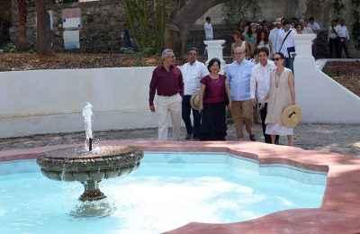 Concluye rehabilitación de Jardín Borda en Cuernavaca