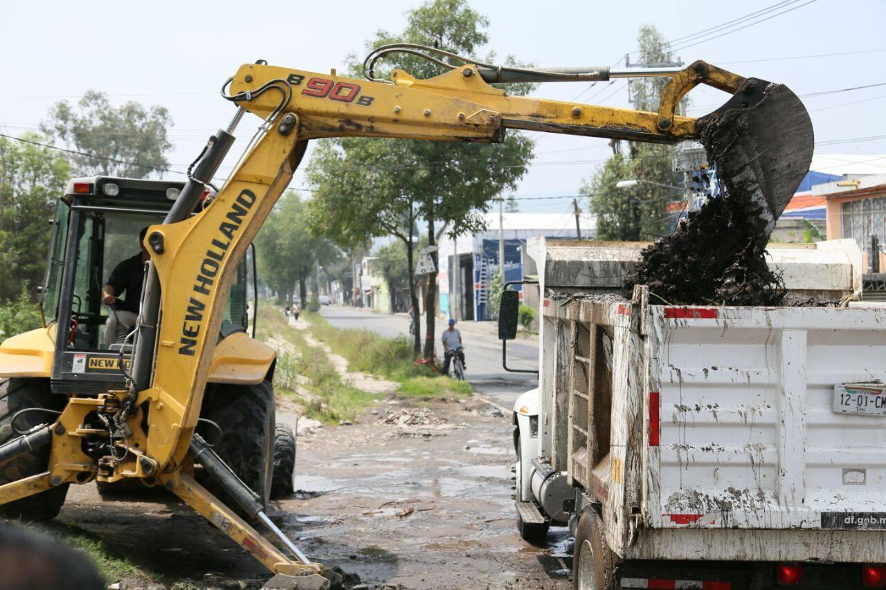 Anuncia SACMEX reconstrucción de red hidráulica en Tláhuac