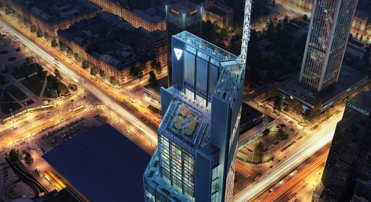 Foster+Partners proyecta torre de oficinas en Polonia