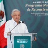Pide Amlo concluir obras del Programa Nacional de Reconstrucción