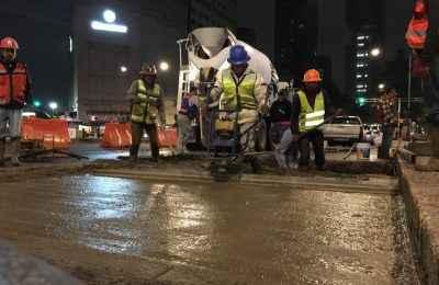SOBSE Realiza trabajos de colado y limpieza en Reforma