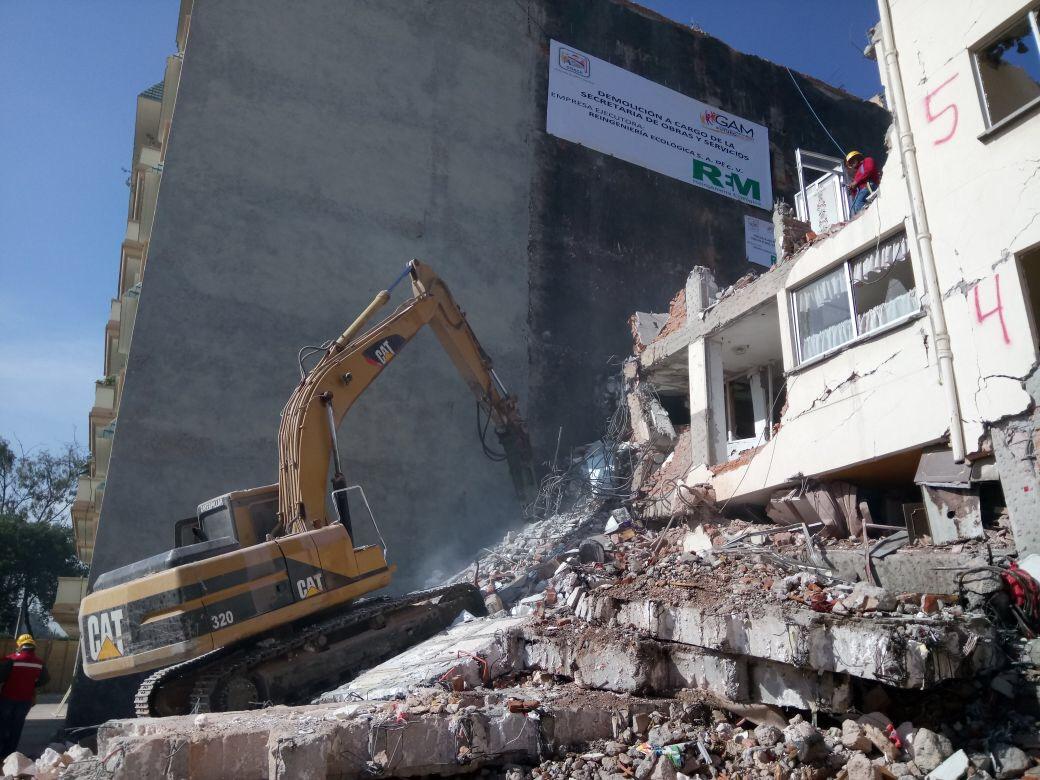 Inicia segunda fase de demolición en Coquimbo 911