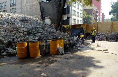 Finalizan demolición en delegación Cuauhtémoc