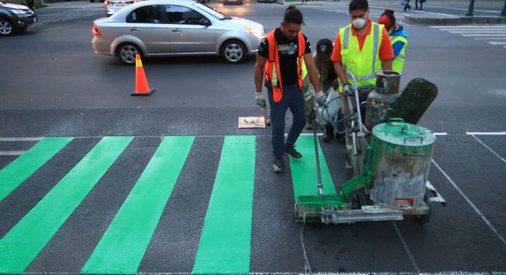 Sedema realiza mantenimiento de ciclovías en CDMX
