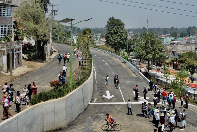 Reabren carretera Xochimilco-Tulyehualco dañada por S19