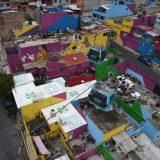 Artistas urbanos dan color al trayecto de la Línea 2 del Cablebús