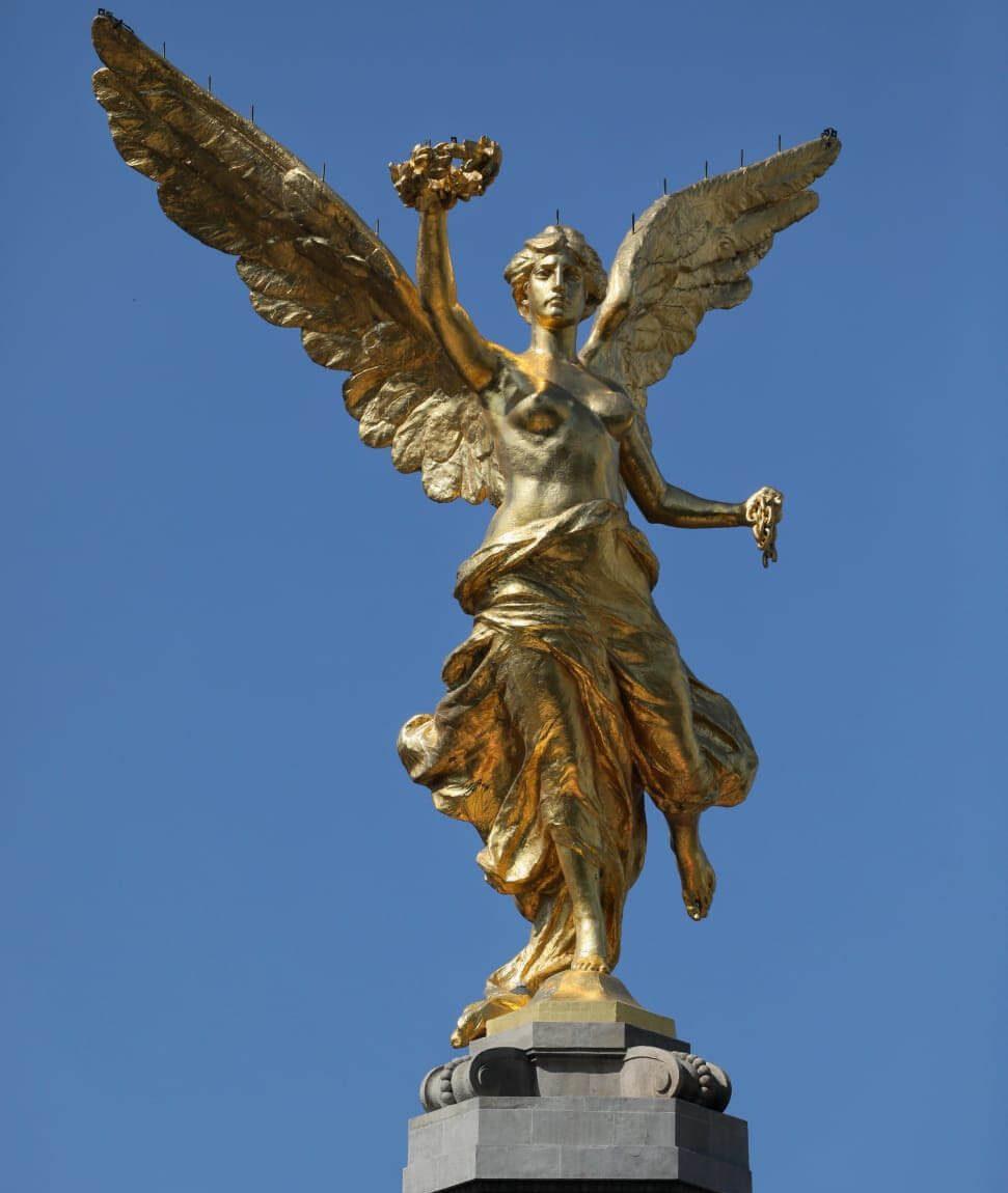 Concluye restauración de la Columna del Ángel de la Independencia