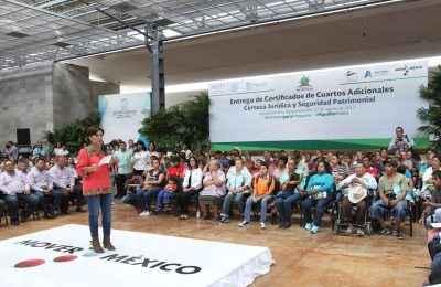 Sedatu ha realizado 73,000 acciones en Aguascalientes