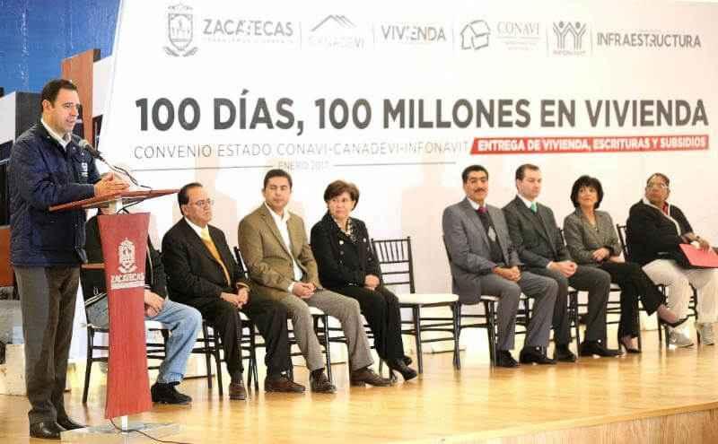 Invierten 100 mdp para acciones de vivienda en Zacatecas