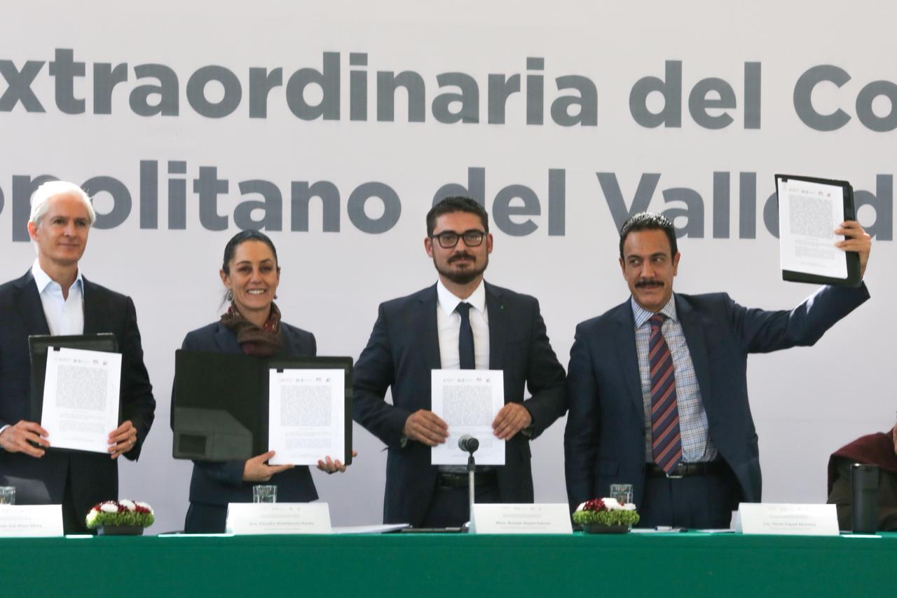 Acuerdan CDMX, Edomex e Hidalgo impulsar gobernanza metropolitana