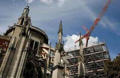Ante riesgo de desplome, reanudan rehabilitación de Notre Dame