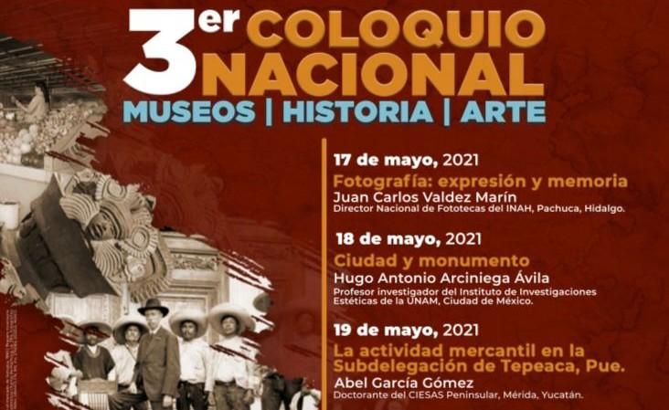 Anuncia INAH coloquio sobre museos, historia y arte