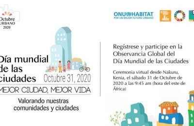 Anuncian programación del Día Mundial de las Ciudades 2020