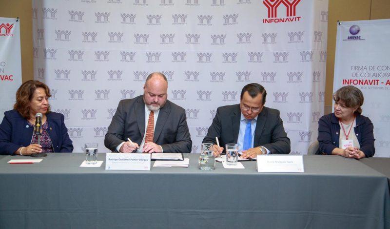Anuvac e Infonavit formalizan alianza en pro de la vivienda