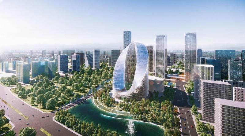 BIG presenta diseño de O-Tower, la nueva sede de OPPO en China