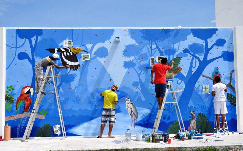 Realizan mural en el CEMA de Chetumal