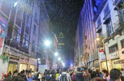 Caída de nieve rodeará al Corredor Peatonal Madero