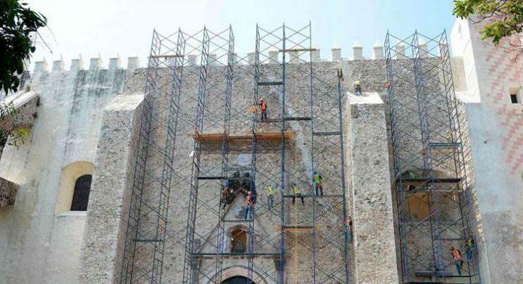 Restauración de catedral de Cuernavaca registra avance de 77 %