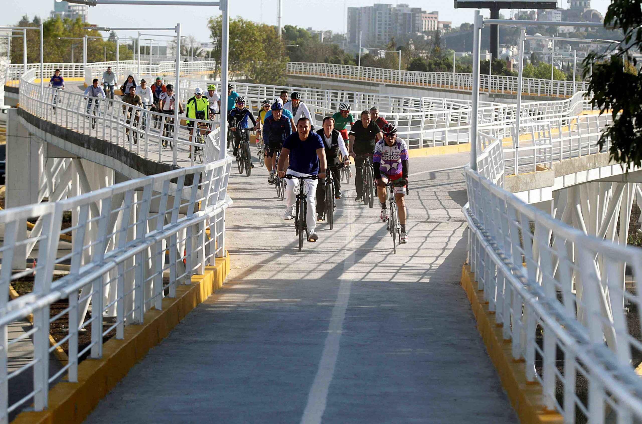 Inauguran ciclopista en Puebla