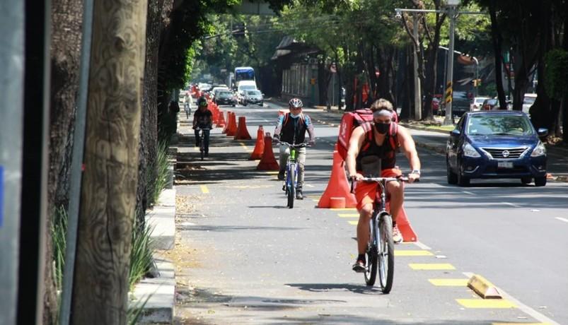 Ciclovía emergente duplica número de ciclistas en Av. Insurgentes