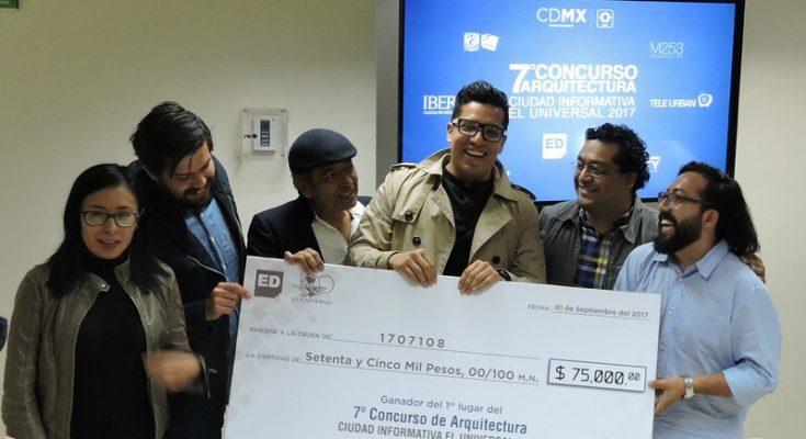 Jóvenes de la CDMX, ganadores del 7° Concurso de Arquitectura 'Ciudad Informativa'