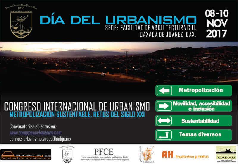 Convocan UABJO a Congreso Internacional de Urbanismo