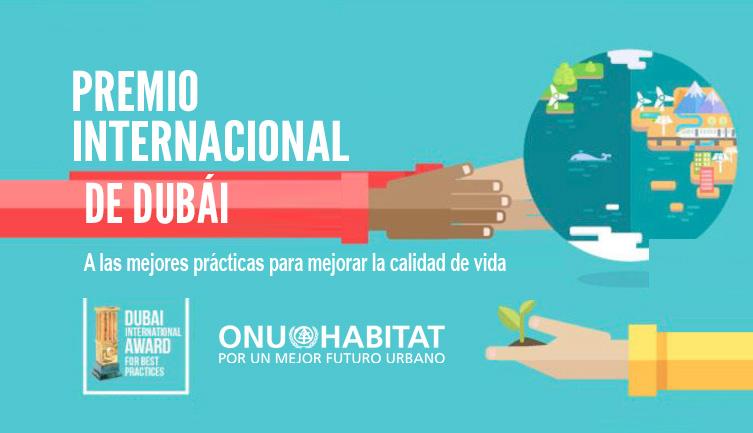 Convoca ONU-Hábitat a Premio Internacional de Dubái 2020