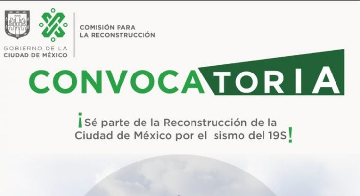 GCDMX convoca a empresas a participar en reconstrucción