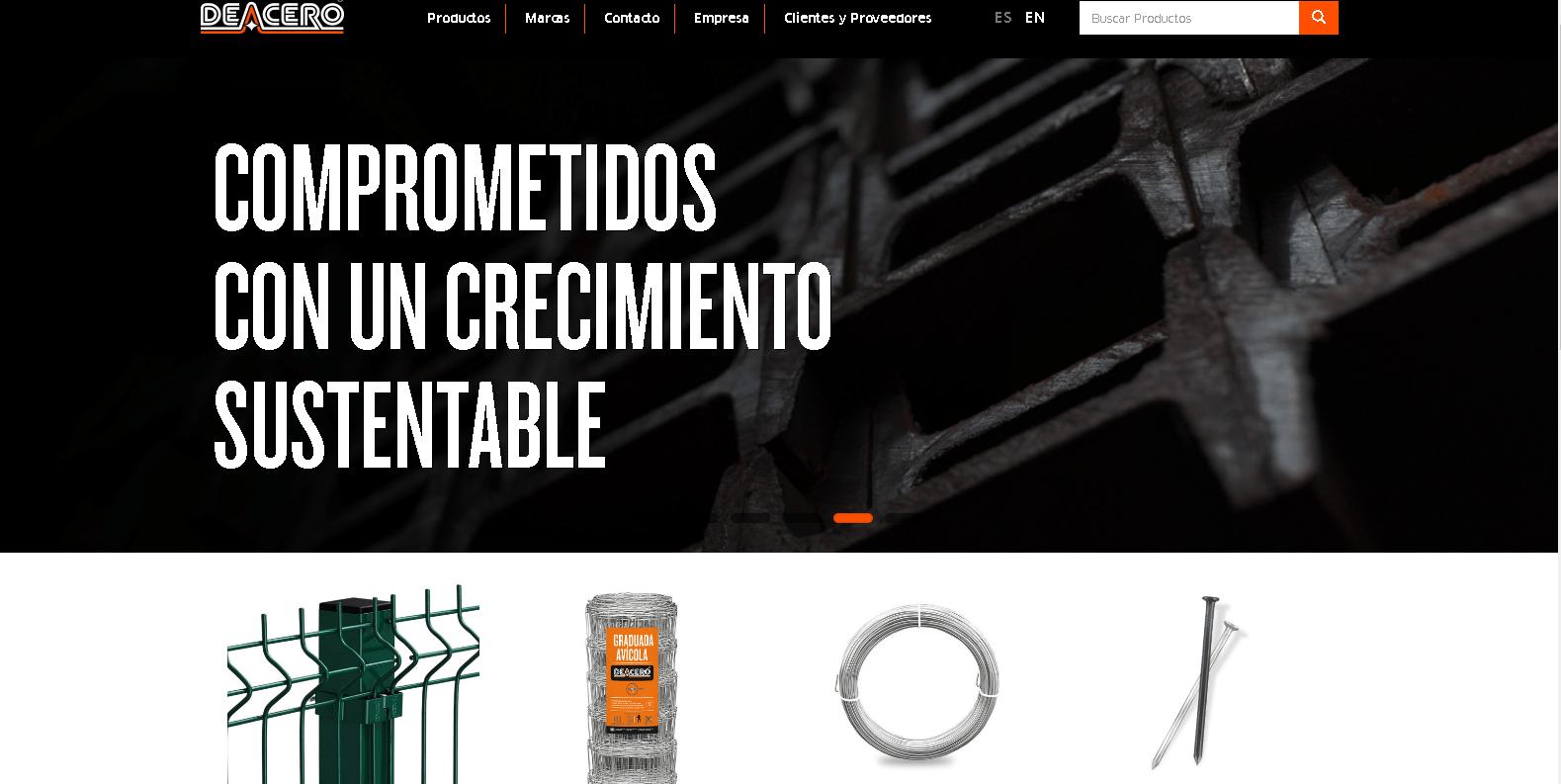 De Acero estrena página web