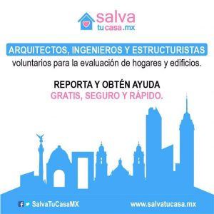 Salva Tu Casa Mx evalúa viviendas sin costo
