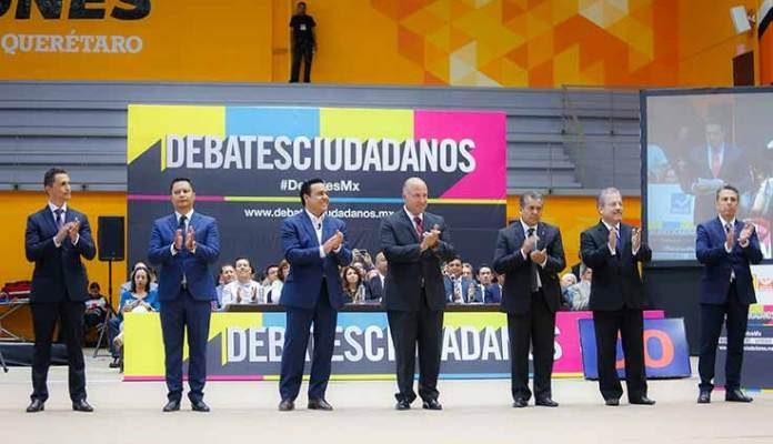 Candidatos a presidencia de Querétaro debatieron sobre seguridad y movilidad