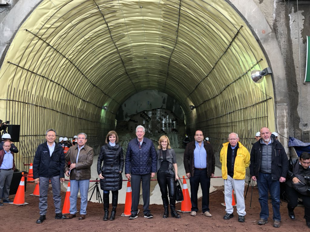 Terminó excavación de segundo túnel de Tren Interubano México-Toluca