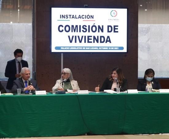 Diputados instalan la Comisión de Vivienda