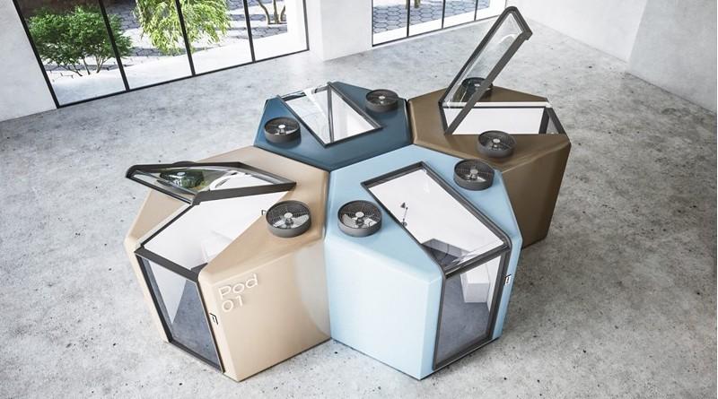 Diseña Mohamed Radwan cápsulas anti Covid-19 para volver a oficinas