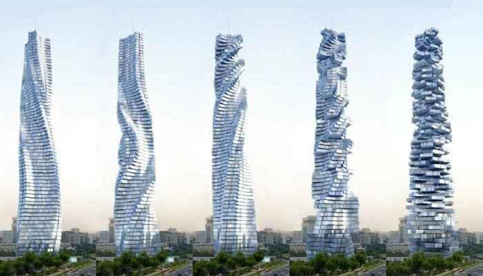 Dubái alista el primer edificio giratorio del mundo