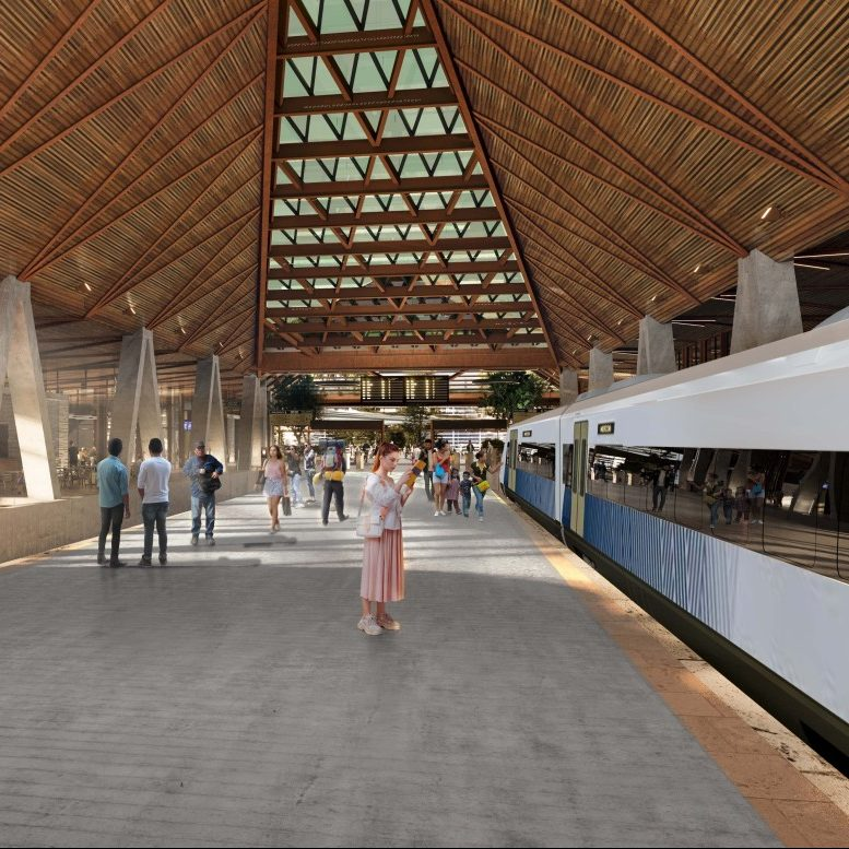 Fonatur presentó el diseño de la estación Palenque del Tren Maya