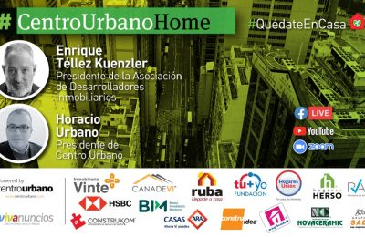 En esta edición de#CentroUrbanoHomenos acompaña Enrique Téllez, presidente de la Asociación de Desarrolladores Inmobiliarios-Enrique Téllez