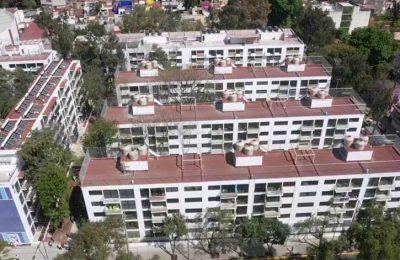 Entrega GCDMX 9 de 10 edificios rehabilitados del Multifamiliar Tlalpan