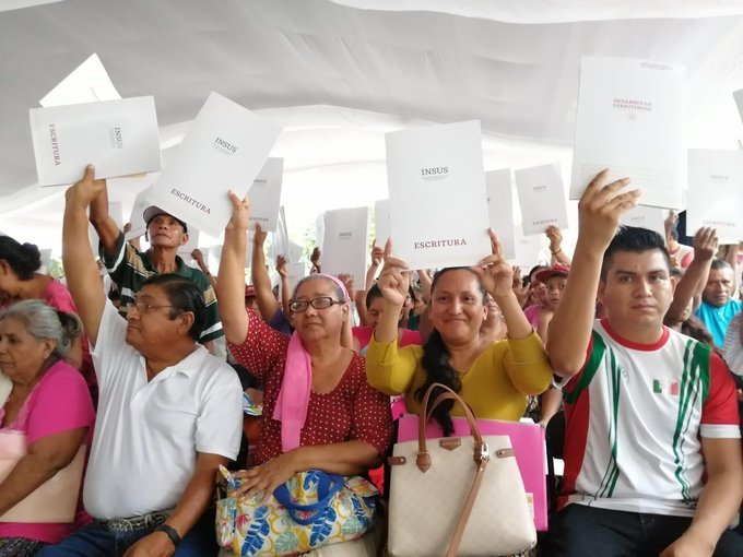 Entregará Insus 7,827 escrituras en beneficio de 78,780 personas