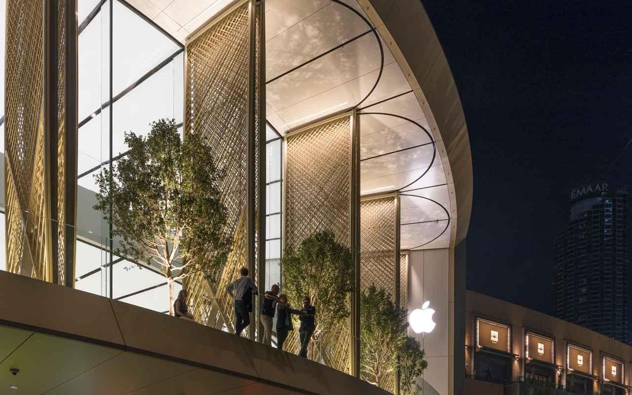 Muestran diseño de espectacular tienda de Apple en Dubai