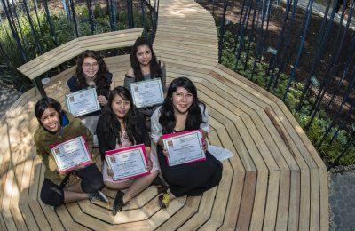 Estudiantes de Arquitectura de Paisaje ganan concurso 'Diseña un jardín'
