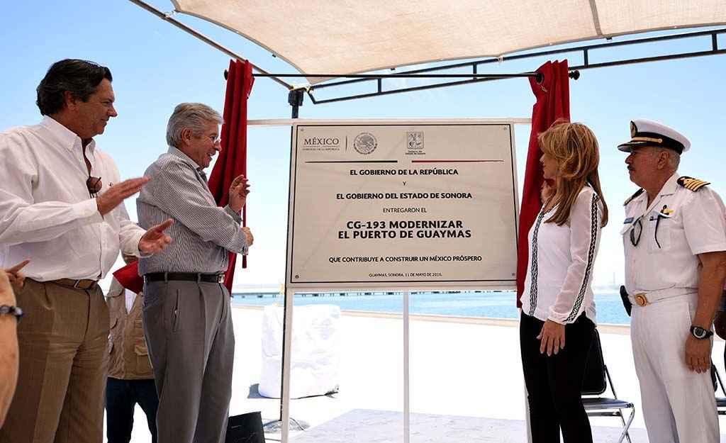 SCT y gobierno de Sonora entregan obras portuarias