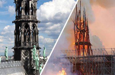 """La Flèche"" de Notre Dame, la joya gótica devorada por las llamas"
